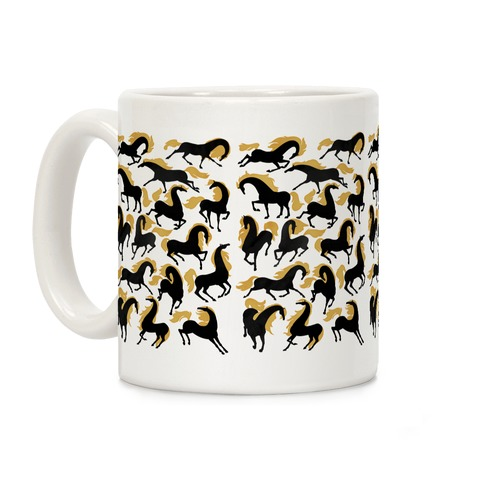 Fiery Wild Horses Coffee Mug