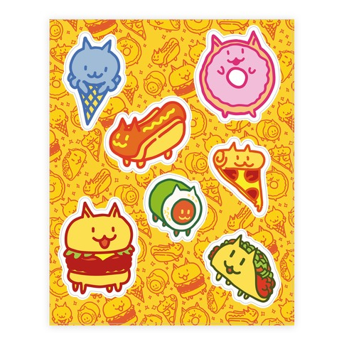 Cat Food Sticker and Decal Sheet