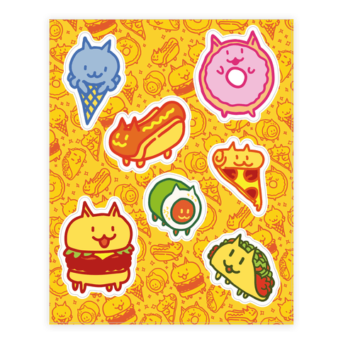 Cat Food  Sticker/Decal Sheet