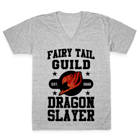 Fairy Tail Guild Dragon Slayer V-Neck Tee Shirt