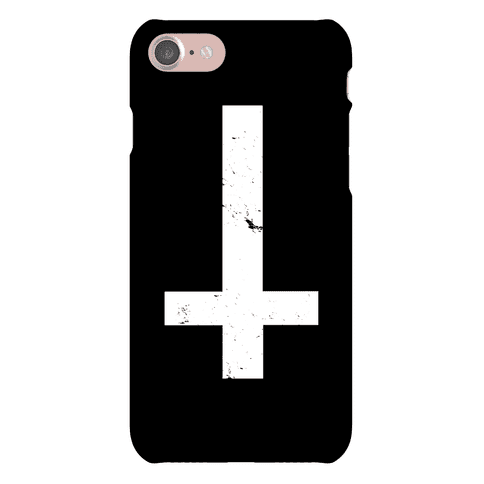 Upside Down Cross Phone Case