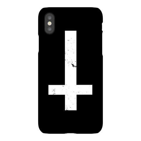 Upside Down Cross Phone Case