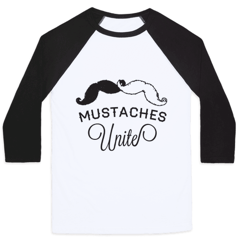 Mo-nited (Black and white) Baseball Tee