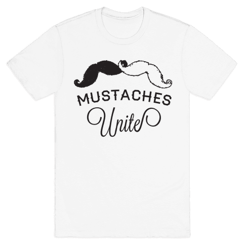 Mo-nited (Black and white) Mens T-Shirt