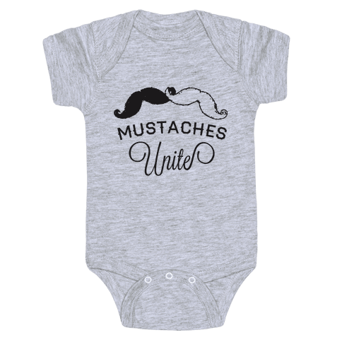Mo-nited (Black and white) Baby Onesy