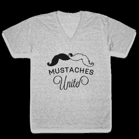 Mo-nited (Black and white) V-Neck Tee Shirt
