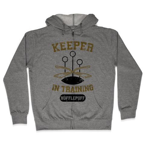 Keeper In Training (Hufflepuff) Zip Hoodie