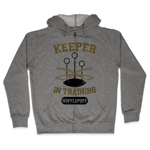 Keeper In Training (Hufflepuff) Zip Hoodie