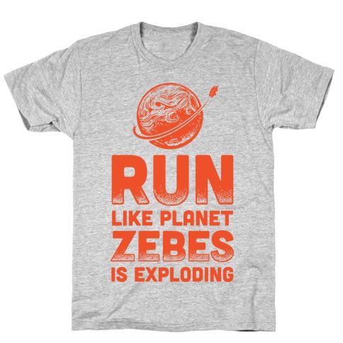 Run Like Planet Zebes Is Exploding T-Shirt