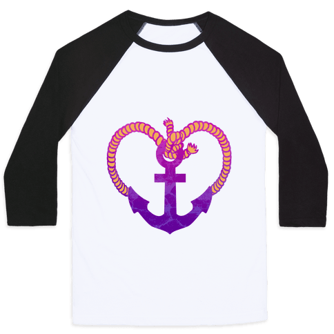 Anchor My Heart Baseball Tee