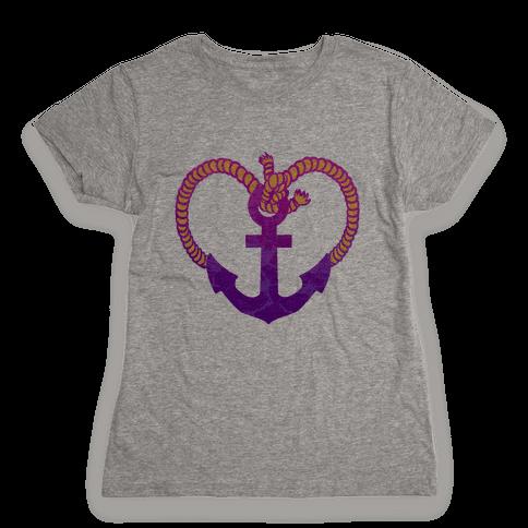 Anchor My Heart Womens T-Shirt
