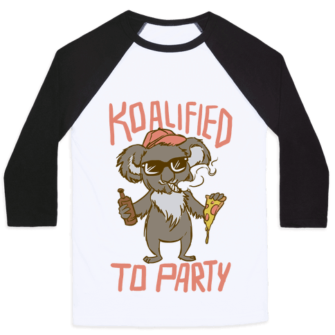 Koalified to Party Baseball Tee