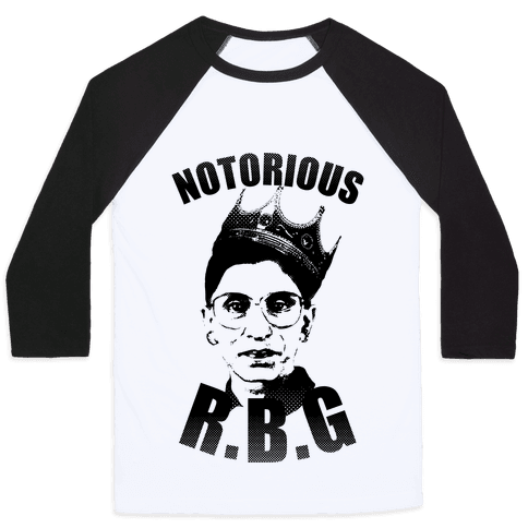 Notorious R.B.G. Baseball Tee