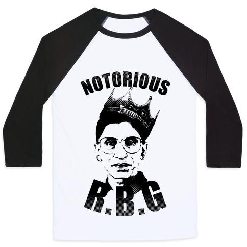 Notorious RBG (Ruth Bader Ginsburg) Baseball Tee