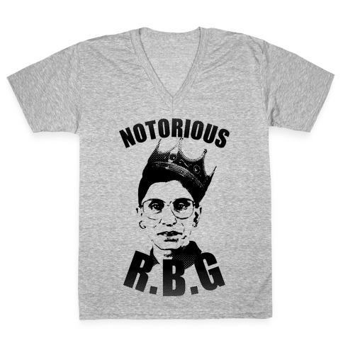 Notorious RBG (Ruth Bader Ginsburg) V-Neck Tee Shirt