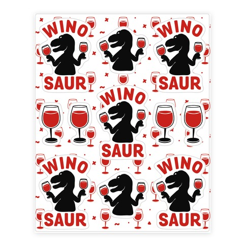 Winosaur Sticker And Decal Sheets Lookhuman