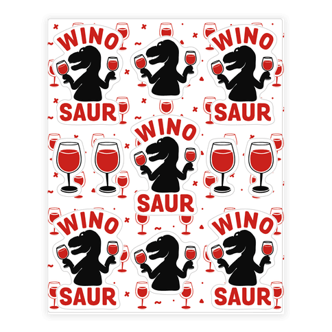 Winosaur  Sticker/Decal Sheet