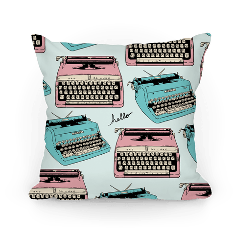 Typewriter Pattern Pillow