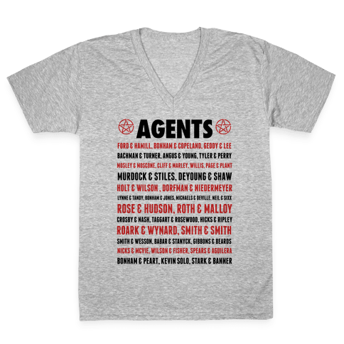 Winchester FBI Agents V-Neck Tee Shirt