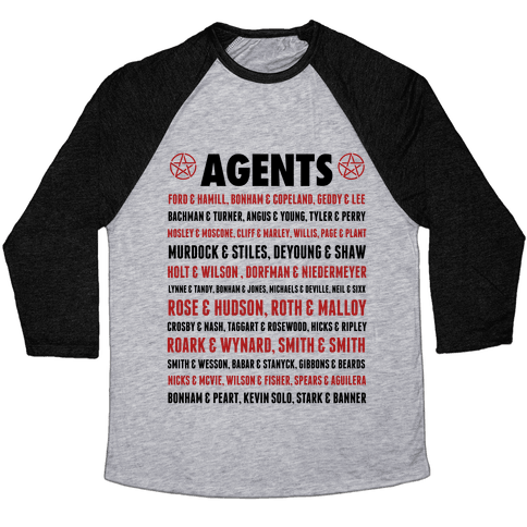Winchester FBI Agents Baseball Tee
