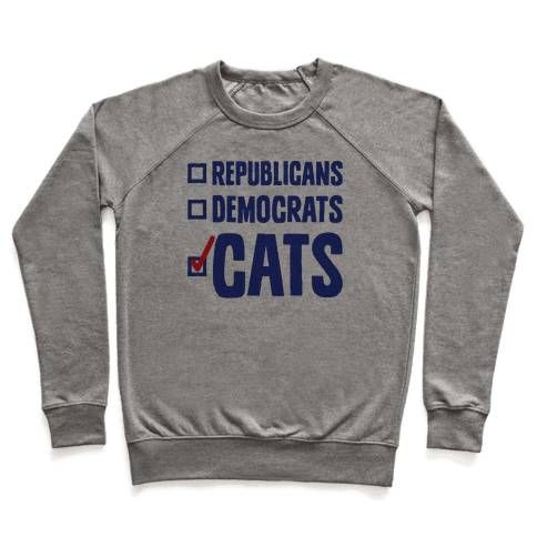 Republicans Democrats Cats Pullover