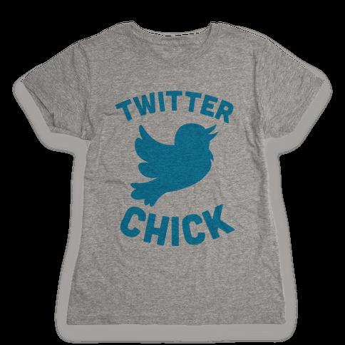Twitter Chick Womens T-Shirt
