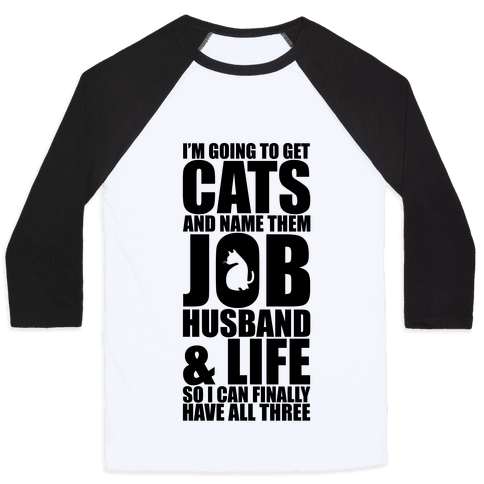 Cats Baseball Tee