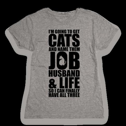 Cats Womens T-Shirt