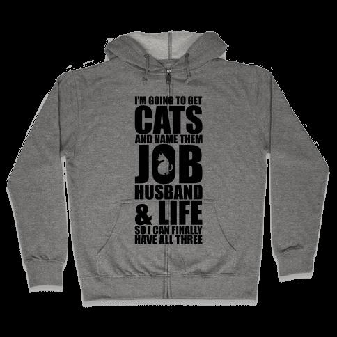 Cats Zip Hoodie