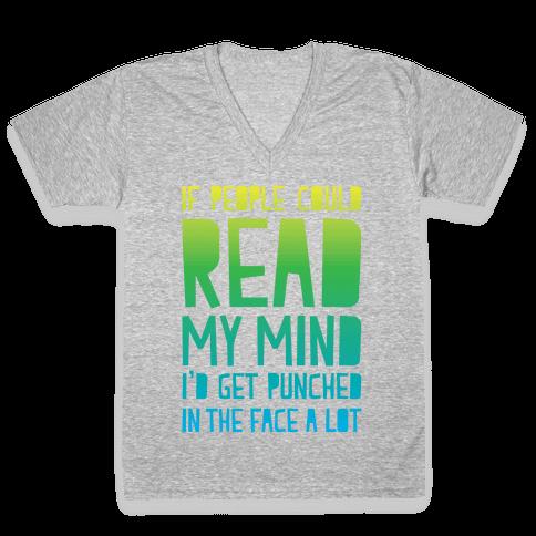 Read My Mind V-Neck Tee Shirt