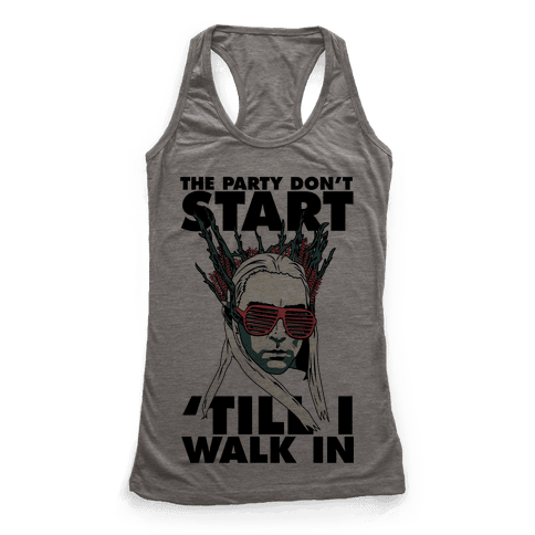 Thranduil Elvish Lord of the Party Racerback Tank Top