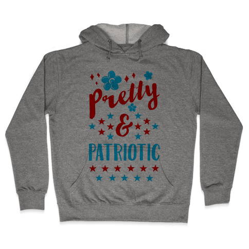 Pretty and Patriotic Hooded Sweatshirt