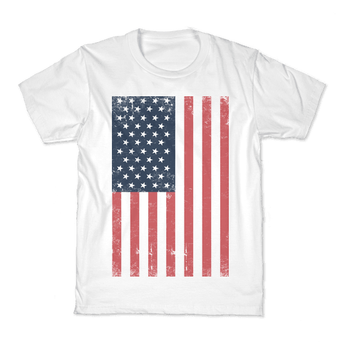 American Flag Distressed Kids T-Shirt