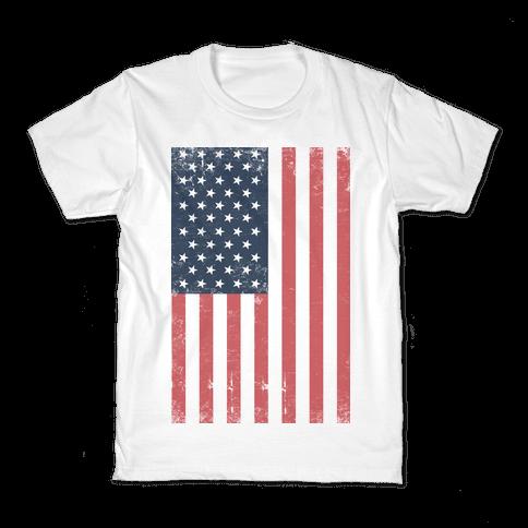American Flag Distressed Kids T-Shirt