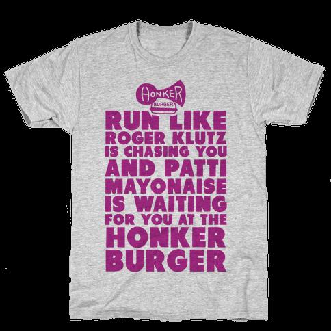 Run Like Patty Mayonnaise Is Waiting Mens T-Shirt