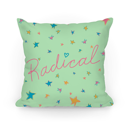 Radical 90s Pillow