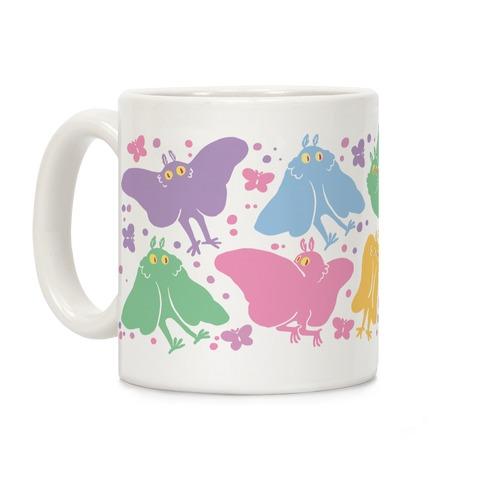 Cute Pastel Mothman Pattern Coffee Mug