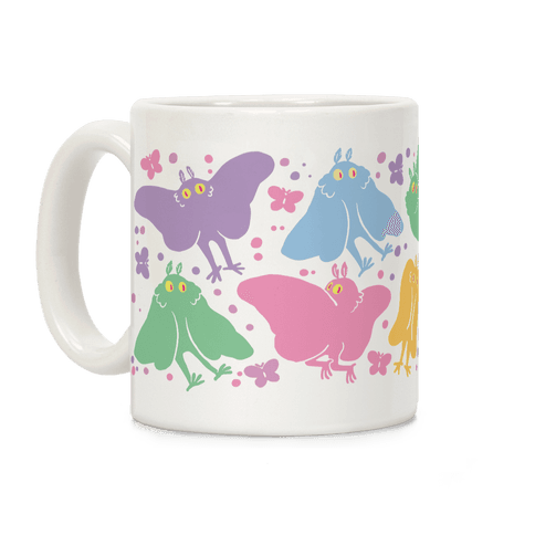 Cute Pastel Mothman Pattern Coffee Mug