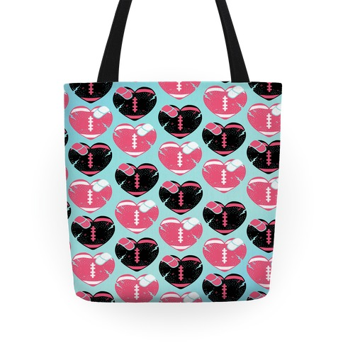 Football Hearts Tote Tote