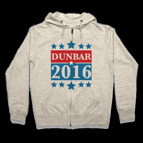 Dunbar For President 2016 Zip Hoodie