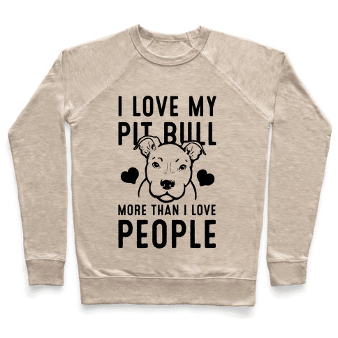 I Love My Pit Bull More Than I Love People Pullover