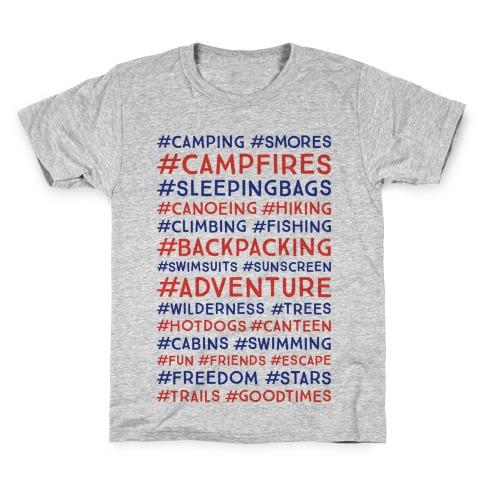 Outdoor Hastags Kids T-Shirt
