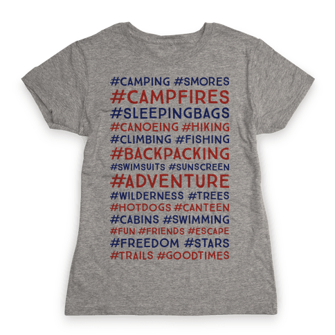 Outdoor Hastags Womens T-Shirt
