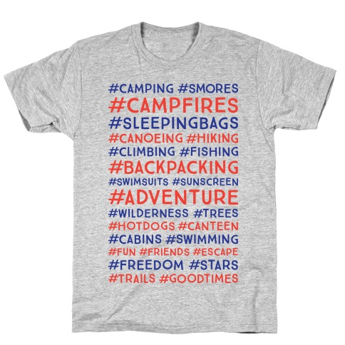 Outdoor Hastags T-Shirt