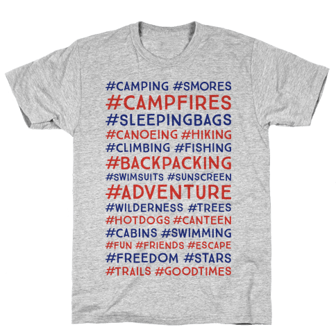 Outdoor Hastags Mens T-Shirt