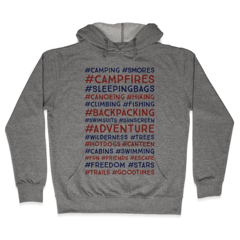 Outdoor Hastags Hooded Sweatshirt