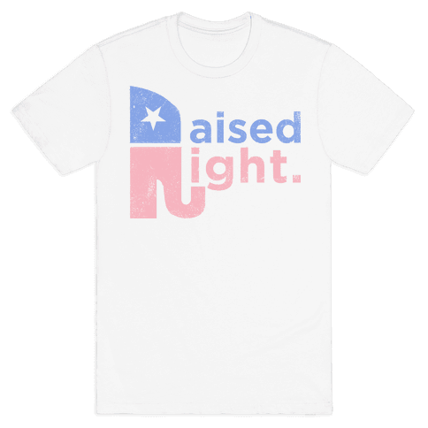 Raised Right (Faded Tank) Mens T-Shirt