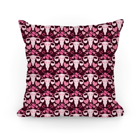 Uterus Pattern Pillow