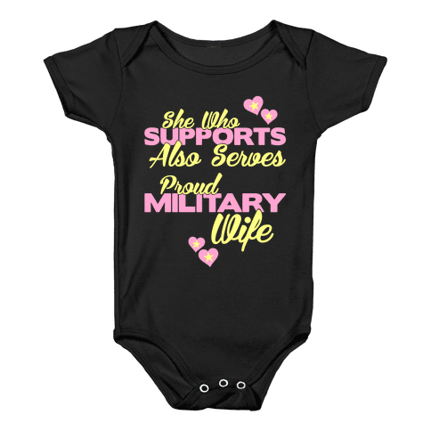 She Who Supports Also Serves Baby Onesy