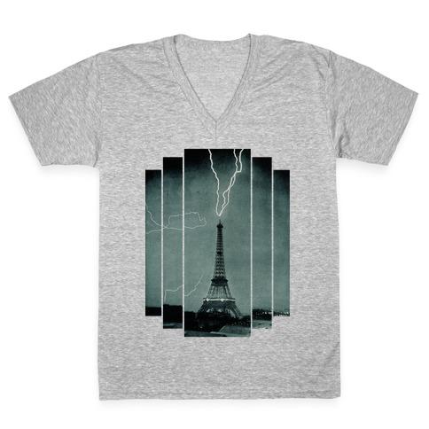 Lightning Strike V-Neck Tee Shirt